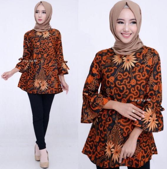 10 Model Baju Batik Muslim Atasan Wanita Terbaru 2018: 150+ Model Baju Batik Wanita Modern Terbaru 2019