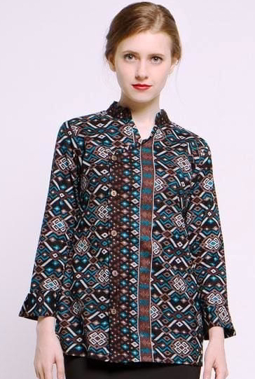 Model Baju Long Dress Batik Wanita Terbaru
