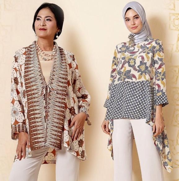 Model Baju Batik Wanita Long Dress